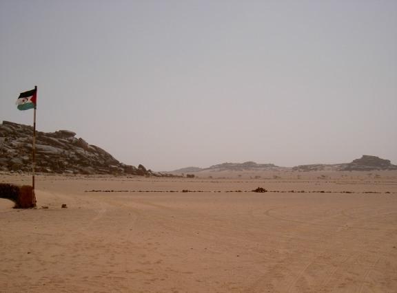 Flaga Frontu Polisario na Saharze Zachodniej