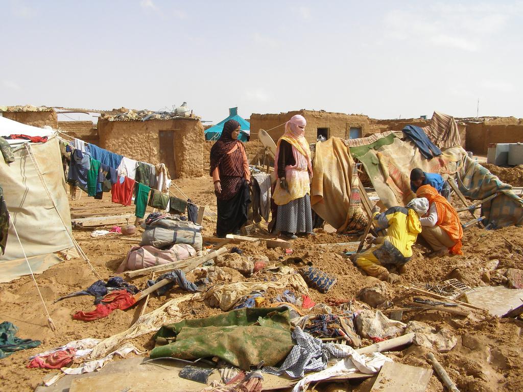 Powódź w obozie uchodźców z Sahary Zachodniej w Algierii