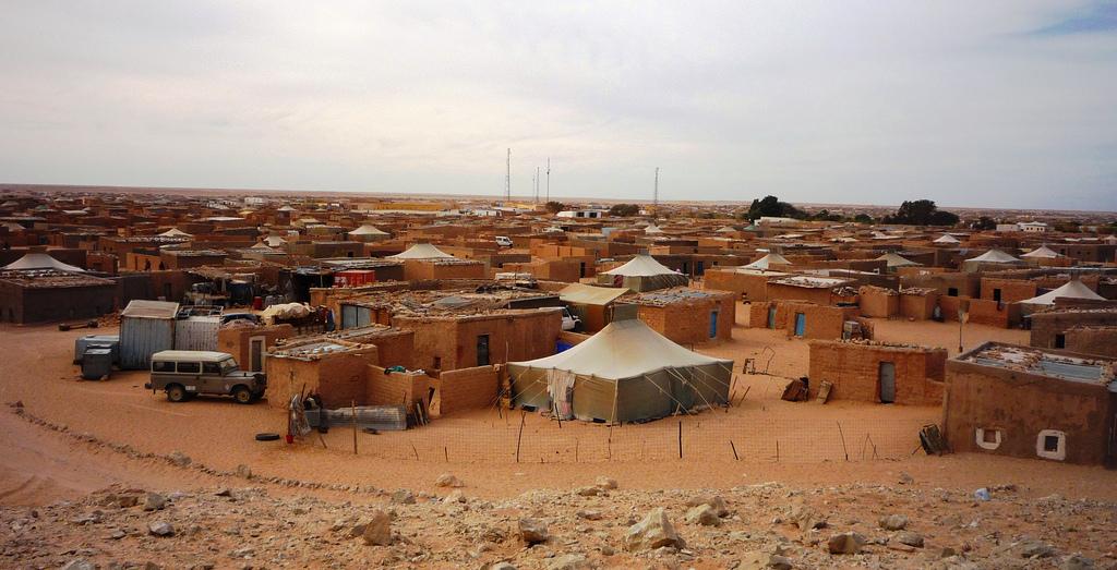Obóz uchodźców z Sahary Zachodniej na algierskiej pustyni